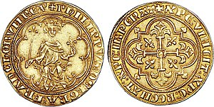Philip IV of France - Masse d'or (7,04 g) during Philip the Fair