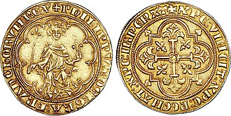 Philip IV of France - Masse d'or (7,04 g) during Philip the Fair's reign