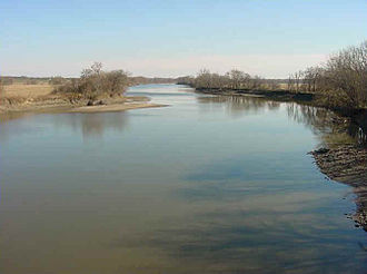 Des Moines River - The Des Moines River upstream of Ottumwa, Iowa