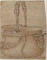 Design for a Bucket-Like Vessel with a Handle of Two Interlaced Captives, on a Body Adorned with a Scroll, Garland, and a Spout with a Satyr's Head. MET 49.19.68.jpg