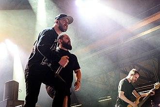 Despised Icon - From left to right: vocalists Alex Erian, Steve Marois and bassist Sebastien Piché.