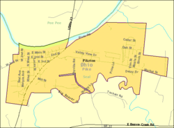 Detailed map of Piketon