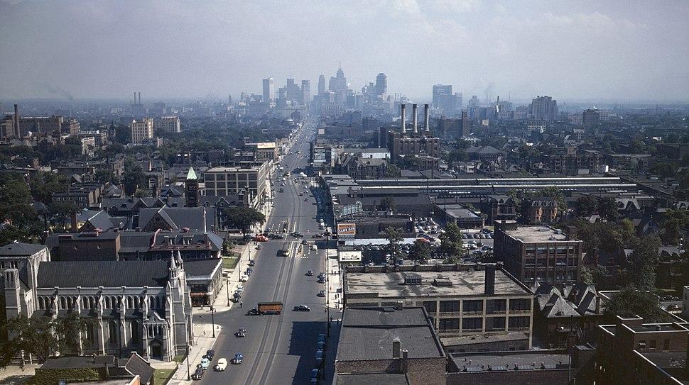 Detroit Skyline 1942d