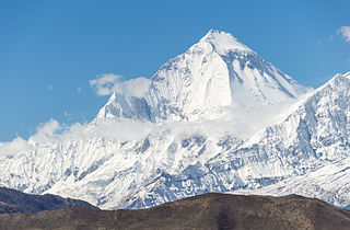 Dhaulagiri Mountain in Nepal; 7th highest in world