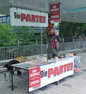 Die PARTEI - Campaign for the student's union at the University of Bremen in 2016
