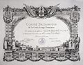 Diploma presented to Aldrich-Blake for service to France. Wellcome L0029609.jpg