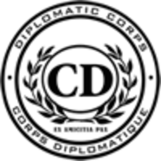 Diplomatic mission - Diplomatic Corps seal - Corps Diplomatique emblem