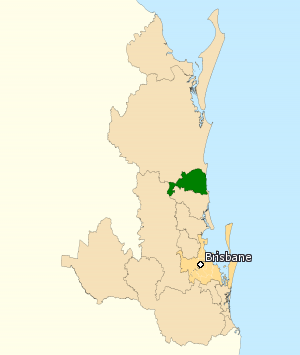 Division of Fairfax - Division of Fairfax in Queensland, as of the 2016 federal election.