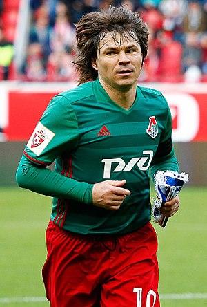 Dmitri Loskov - In his 2017 farewell game with Lokomotiv