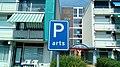 Doctor parking sign at the Van Heemskerk flat, Winschoten (2019) 02.jpg
