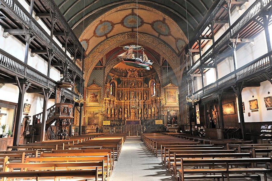 St. Jean-Baptiste church, Saint Jean de Luz, Labourd, Basque Country.