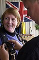 Donna Rathbun Sexual Assault Response Coordinator, gears up for her first skydive in support of Operation Free-Fall at Vandenberg Air Force Base, Ca., April 20, 2007 070427-F-NT771-138.jpg