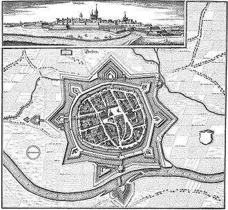 Siege of Dorsten - Image: Dorsten 1633 cupper engraving by matthaeus merian