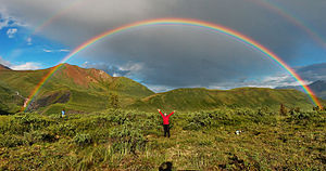Direct and indirect realism - Image: Double alaskan rainbow