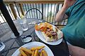 Douthat Lakeview Restaurant-deck-food-douthatchips-picklefries-philly (17821226631).jpg