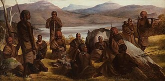 Robert Hawker Dowling - Group of Natives of Tasmania (1859)