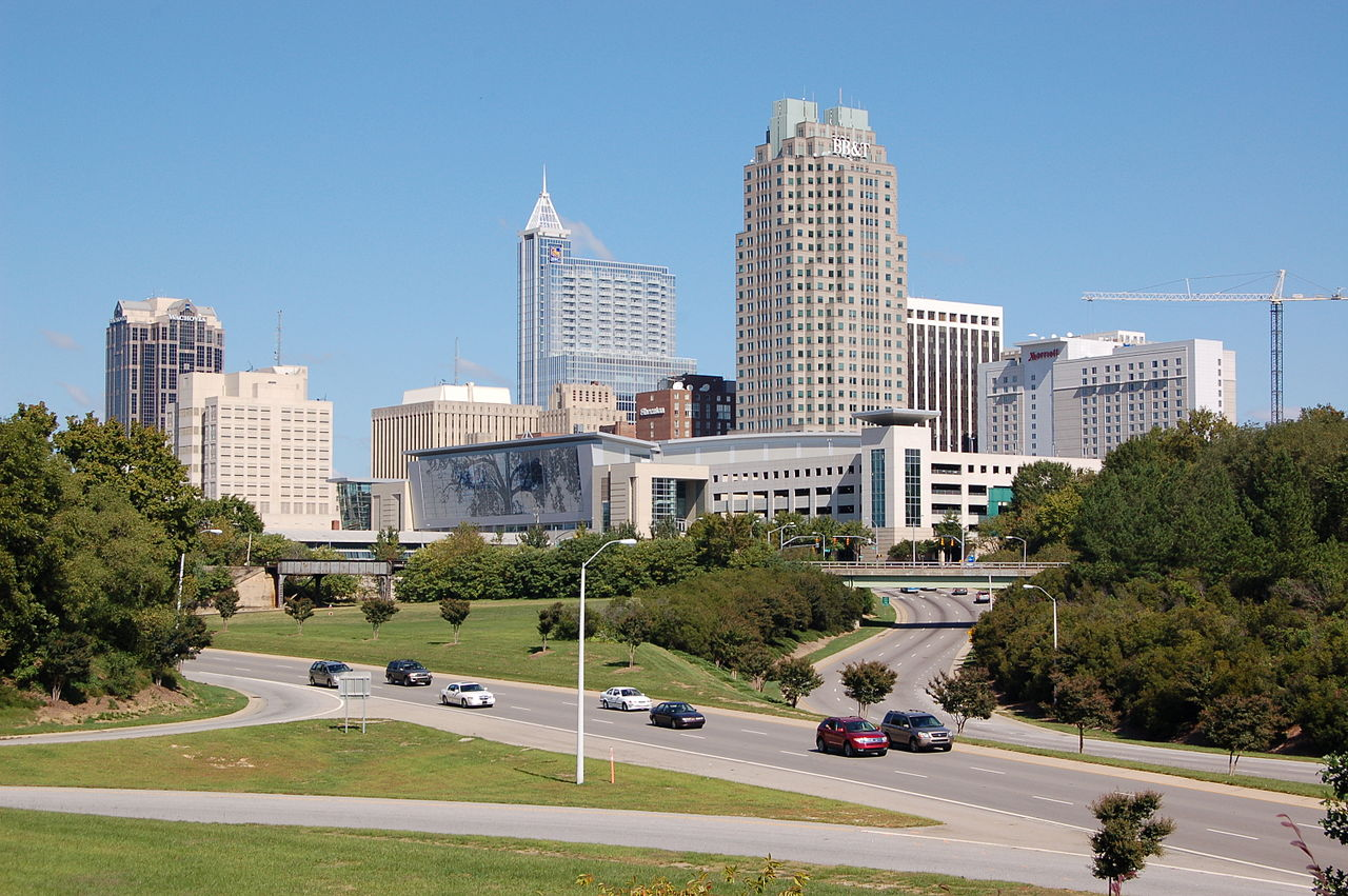 file downtown raleigh from western boulevard overpass. Black Bedroom Furniture Sets. Home Design Ideas