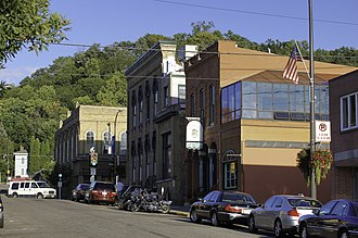 Hudson, Wisconsin - Historic architecture in downtown Hudson, September 2010