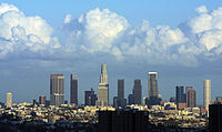 Downtown Los Angeles, California: the most populous city of the most populous state.