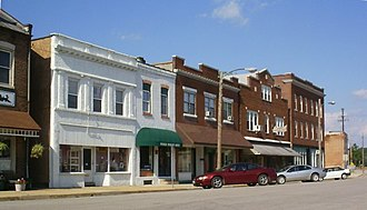 Pacific, Missouri - Part of historic downtown Pacific