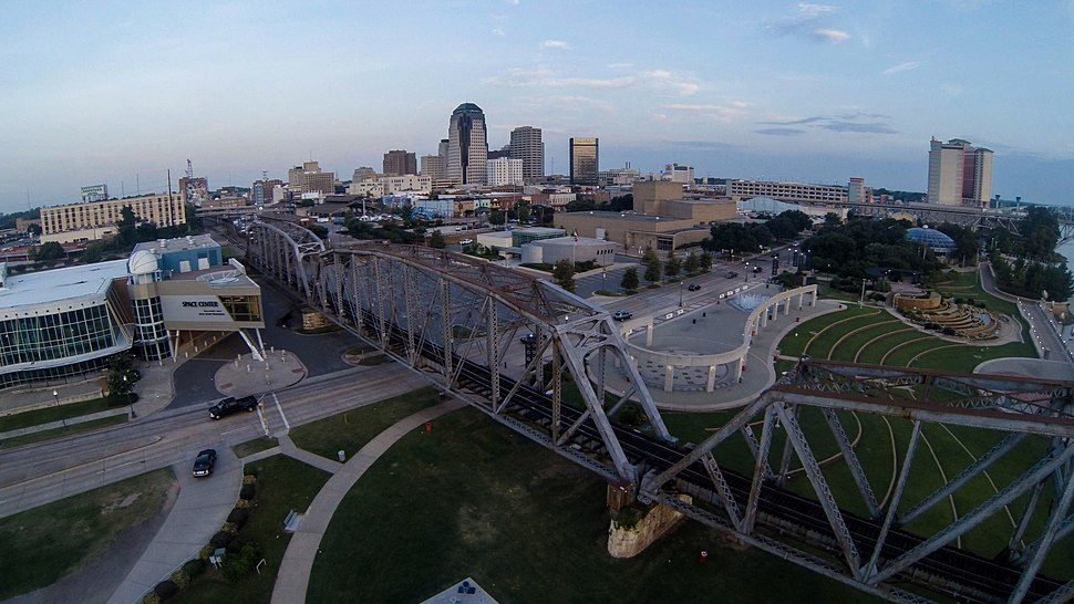 Downtown Shreveport, Louisiana in 2014