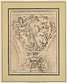 Drawing, Spandrel Decoration- Fame and Truth Applauding Louis XV, 1753 (CH 18172825).jpg