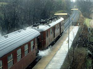Langerød railway halt - Langerød halt in 1983