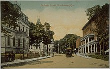 Postcard of Dufferin Street, Sherbrooke, between 1903–1913
