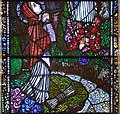 Duhill Church of Saint John the Baptist Window Vision of Bernadette at Lourdes by Harry Clarke Detail Saint Bernadette 2012 09 08.jpg