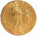 Dukat powstańczy z kropką (1831) - awers.jpg