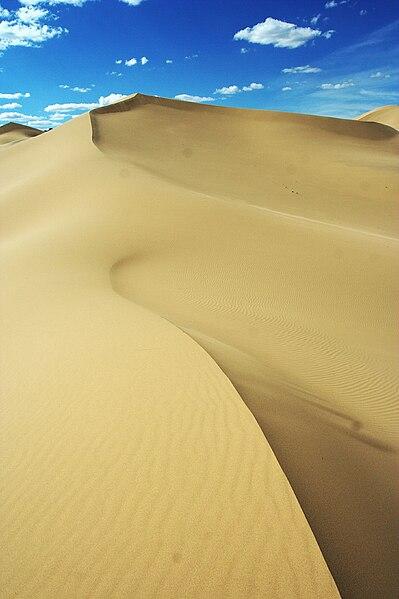 Púšť Gobi v Mongolsku