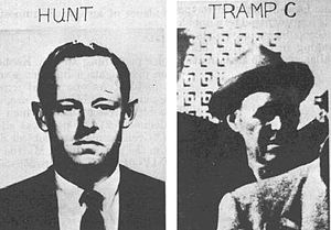 E. Howard Hunt - E. Howard Hunt and one of the three tramps arrested after the assassination of President Kennedy.