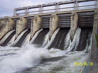 Tobin Lake - E.B. Campbell Dam Spillway