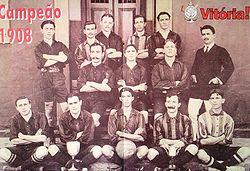 8179036e29 Elenco do Victoria campeão baiano de 1908.