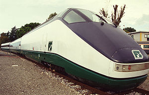 FS Class ETR 500 - Prototype set ETR.500-X at an exposition in Bologna in 1994.