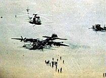 Eagle Claw wrecks at Desert One April 1980.jpg
