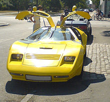 Gullwing doors open on an Eagle SS & List of cars with non-standard door designs - Wikipedia