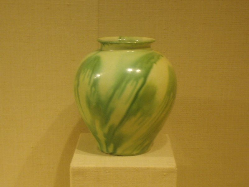 File:Earthenware jar with green and yellow glaze, Tang Dynasty.JPG