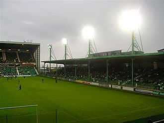Easter Road - The East Stand, which was built in this form in 1985 and demolished in March 2010.