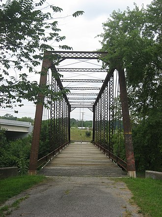 National Register of Historic Places listings in Defiance County, Ohio - Image: Eastern end of the Dey Road Bridge