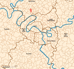 Eaubonne - Image: Eaubonne map