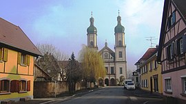 The abbey church in Ebersmunster