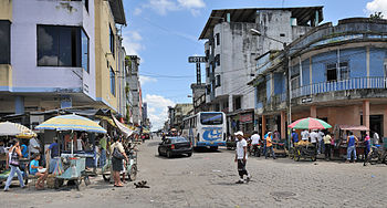 Ecuador El Carmen street