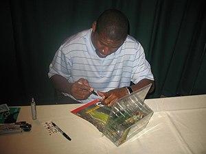 Edgar Bennett - Bennett signing autographs in 2008