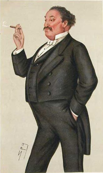 "The World (journal) - Yates caricatured by ""Spy"" in Vanity Fair, 1878"