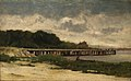 Edward Mitchell Bannister - Untitled (landscape with pier) - 1983.95.73 - Smithsonian American Art Museum.jpg