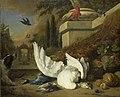 Een hond bij een dode gans en een pauw Rijksmuseum SK-C-264.jpeg