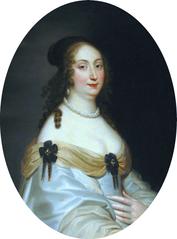 Portrait of Marie Louise Gonzaga (detail).