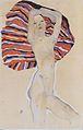 Egon Schiele - Mädchenakt gegen farbiges Tuch - 1911.jpeg