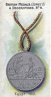 Egypt Medal (1801) East India Company medal for 1801 Egyptian campaign